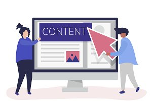 People with digital content creation