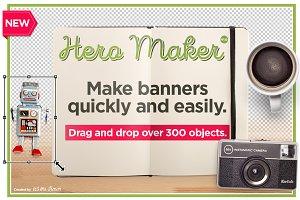 Hero Maker Mockup Scene Creator