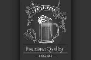Vintage Beer Bar Poster