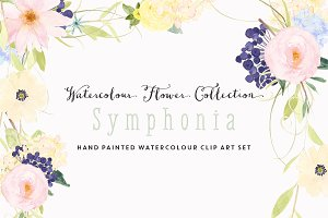 Watercolour Flower ClipArt Symphonia