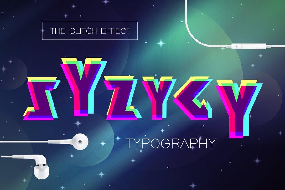 SYZYGY - The Glitch Effect Typograph
