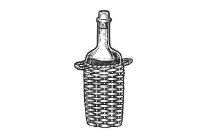 Wine bottle carboy engraving