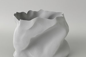 gray empty raw fabric bag 3d