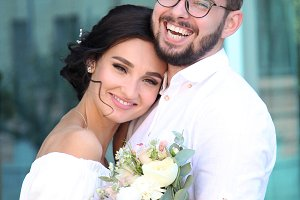 Happy beautiful young couple