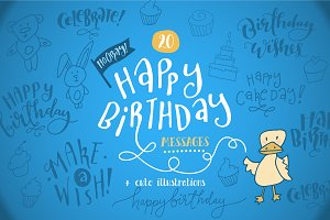 Happy Birthday Messages + Cards