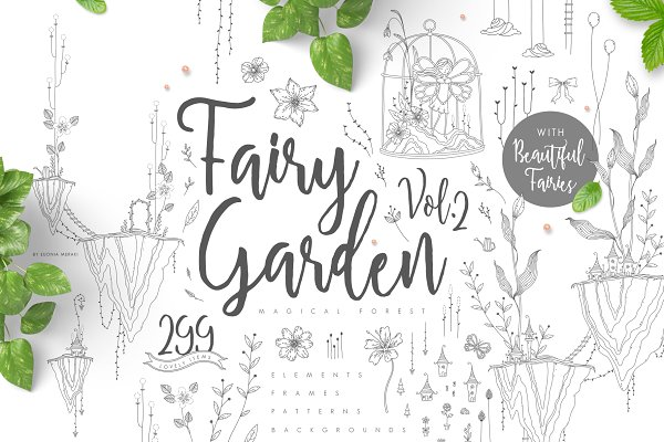 Fairy Garden 2 - Spring Illustration