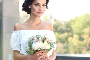 Portrait of a beautiful young bride