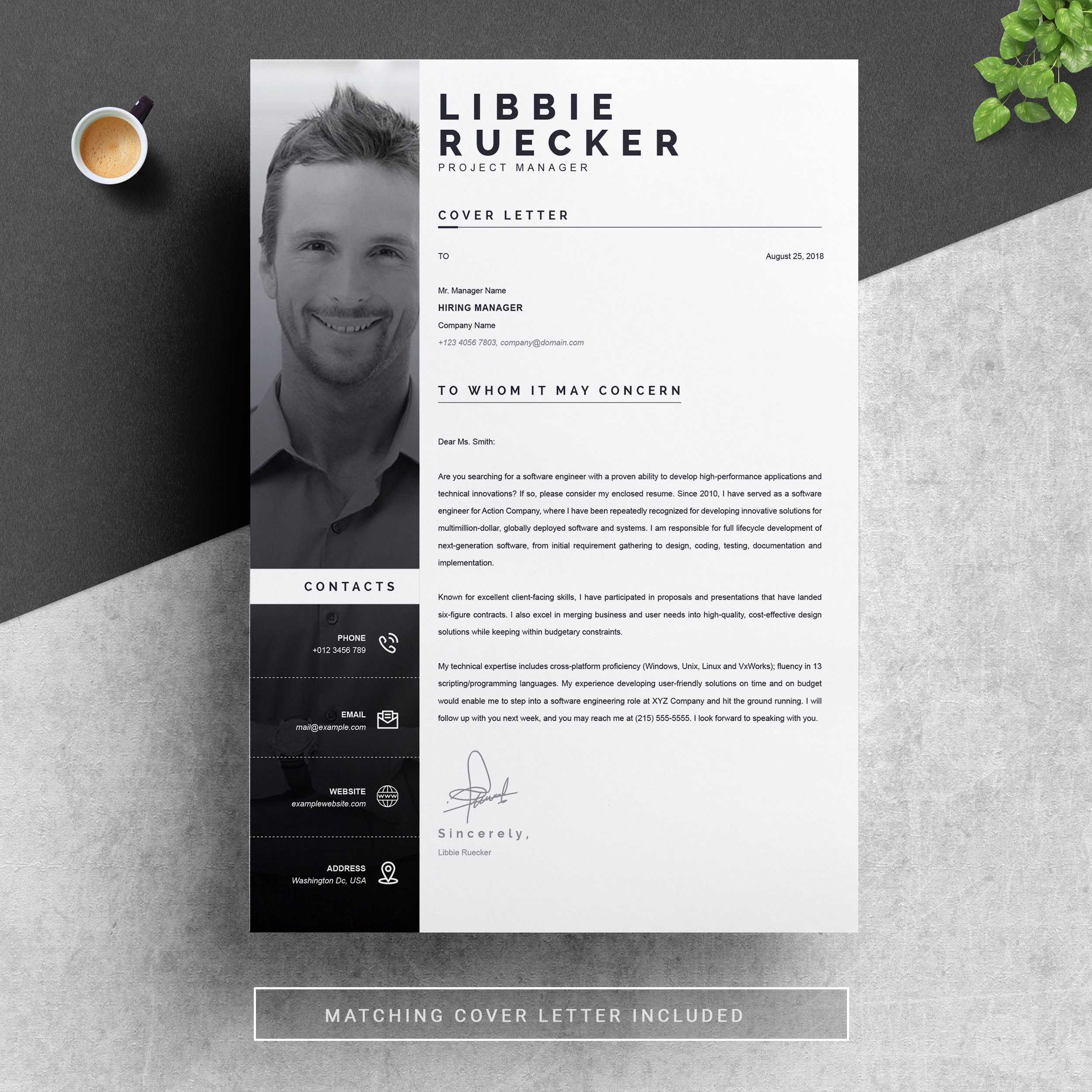 Modern Resume Template With Photo Creative Daddy