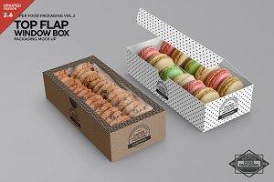 Top Flap Window Box Packaging Mockup