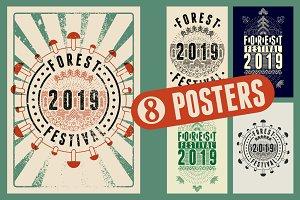 Forest Festival 2019 poster, label.