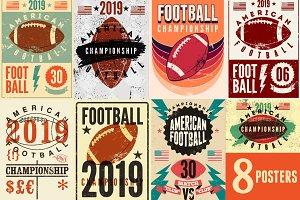 American Football vintage posters.
