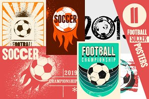 Football/Soccer vintage posters.
