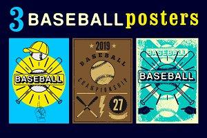 Baseball vintage posters.