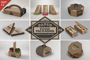 VOL.2 Food Box Packaging Mockups