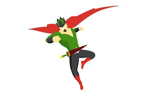 Superhero king actions icon in