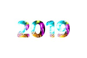 2019 - year number shining