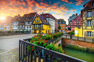 Antique half-timbered houses