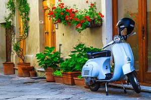 Italian street and motorcycle