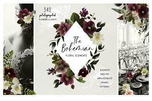 Daenty - Bohemian floral elements