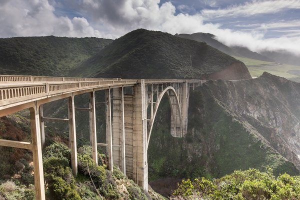 Stock Photos: Yuval Helfman Photography - Storm clouds leaving Bixby Bridge