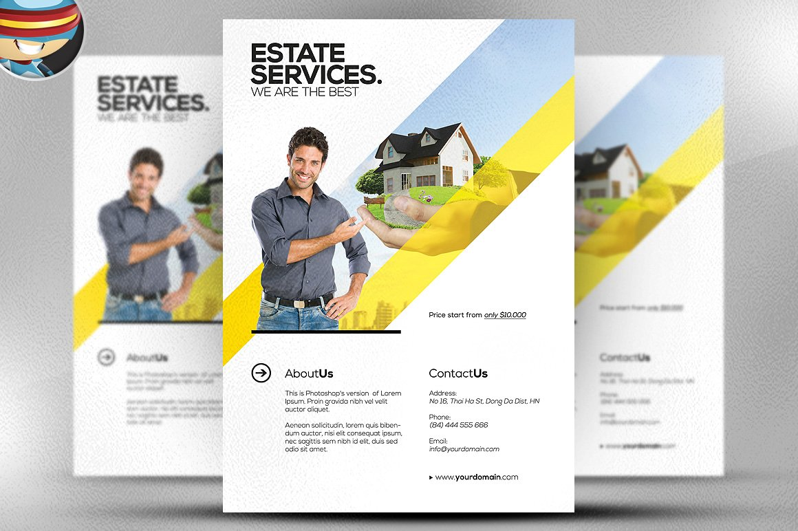 realtor flyer template flyer templates on creative market