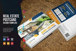 Real Estate Postcard Design v1