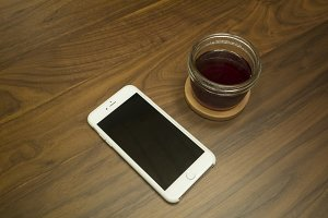 iPhone 6 plus. Coffee. Wood. Hipster