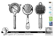 Cocktail strainers types