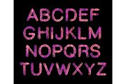 Sketch neon gradient Alphabet