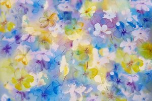 Flower abstract in pastel colors -