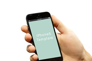 Hand with iPhone5 template_02