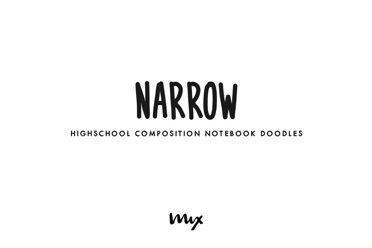 Narrow – A Handwritten Font