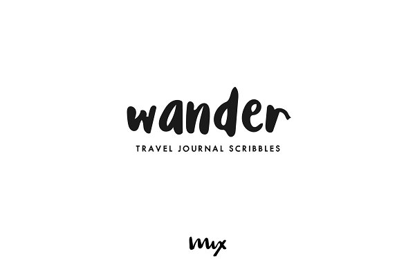 Best Wander — A Handwritten Font Vector