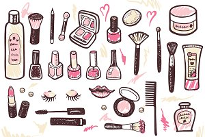 Cosmetics & Makeup kit +4 patterns