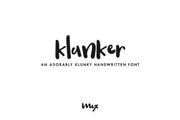 Klunker - A Handwritten Font