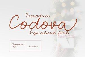 Codova Signature Font