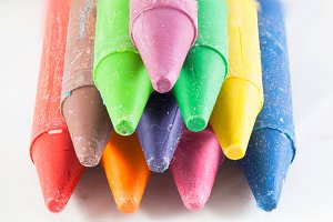 Macro crayon sticks