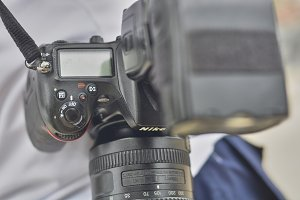 Detail of a Nikon camera