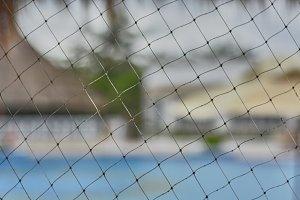 Texture of a plastic net