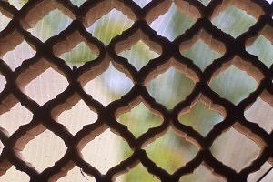 Detail of a lattice from holes