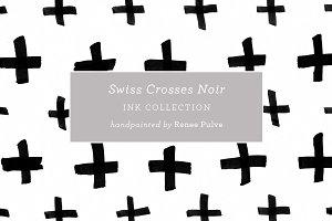 Swiss Crosses Noir