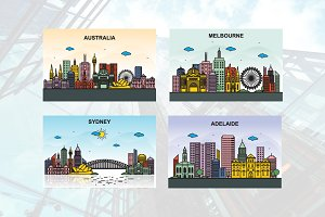 City in Australia Cityscape Skyline