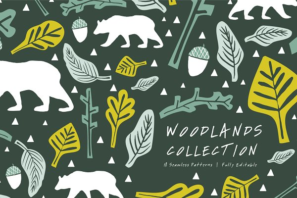 Graphic Patterns - Woodlands | Seamless Patterns