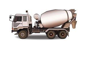 Cement mixer truck,vector