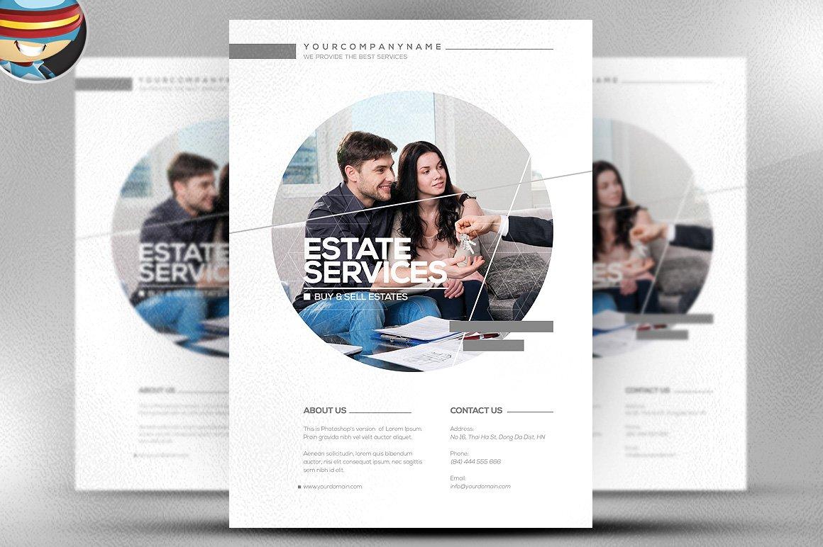 real estate business flyer flyer templates on creative market