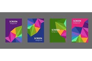 Multicolor polygonal illustration