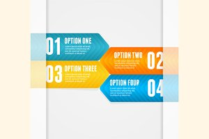 Vector infographics options banner