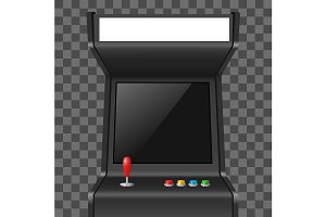 3d Arcade Game Machine. Vector