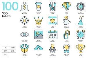 SEO Internet Marketing Icons | Aqua