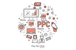 Round concept of pay per click